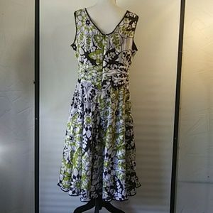 Fit and flare floral dress 12